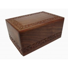"Box - Wooden, Carved-9.5""X6.5""X5"""