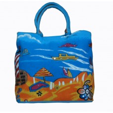 Beach Bag - Light House - Ocean Blue