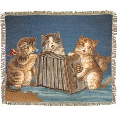 Tapestry Throw - Cats Playing Music