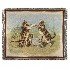 Tapestry Throw - Playing Cats
