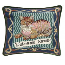 Cushion, Satin W/Cat Design