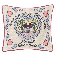 Cushion, Satin W/House Design