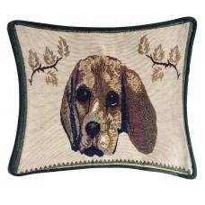Cushion, Satin Touch W/Dog Design