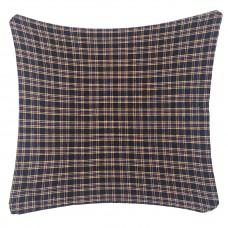 Cushion, Dark Navy Plaid W/Buttons