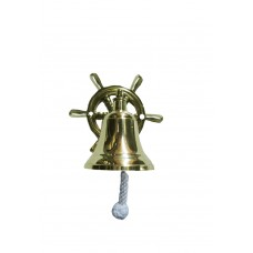 "Bell 3"" Dia. - Brass - Wall, Ship Wheel"