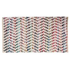 "Braided Floor Mat - White, Multi Color - 30X48"" (See # 50102/53102)"