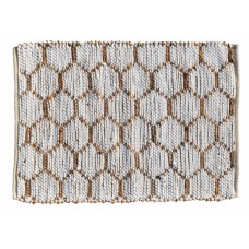 """BRAIDED FLOOR MAT,  COTTON - ASSORTED CLRS. 96X120"""""""