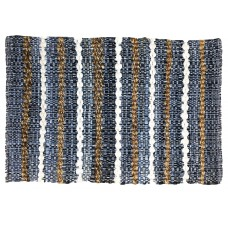 "CHINDI,  RUGS - 30""X48"" - STRIPE DENIM/JUTE, HEAVY"