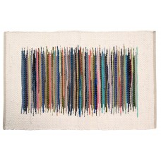 """Chindi, Rugs - 48""""X72"""" - Solid Clr. Border Cotton, Ivory"""