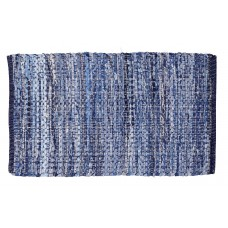 "Chindi Rugs - Denim Blue- 20""X34"" - Heavy"