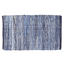 "CHINDI RUGS - DENIM LITE BLUE- 20""X34"" - HEAVY"