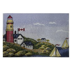Place Mat- Tpstr, Light House+Island