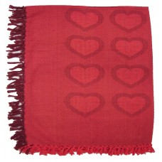 Table Cloth- Hearts, Red/Burgandy-52X70""