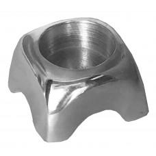 Candle Holder - Aluminum, Sqr.