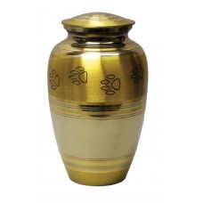 "Urn For Pets, Brass, Two Tone - 8"" Ht."