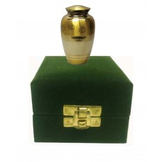Keepsake Mini Urn For Pets, Brass, In Velvet Box