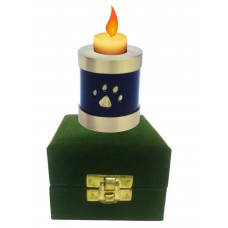 Urn For Pets, Solid Metal, Gold/Blk-Small