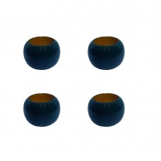 NAPKIN RING, WOODEN W/NAVY COLOR -SET OF 4 Pcs.