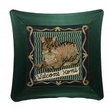 Cushion - Satin, Cat - 18X18