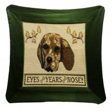 Cushion Satin- Dog, 17X17