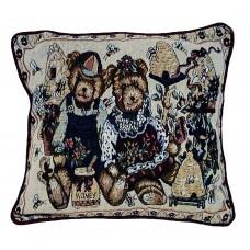 Cushion Tapestry, 17X17-Teddy Bear