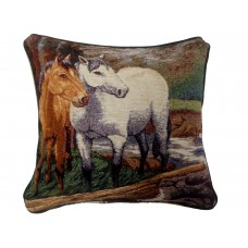 Tapestry Cushion - 2 Horses