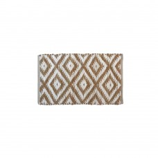 BRAIDED FLOOR MAT, COTTON- BEIGE- 20X32""