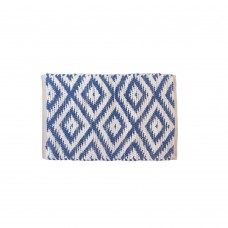 BRAIDED FLOOR MAT COTTON- BLUE- 20X32""