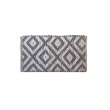 BRAIDED FLOOR MAT, JUTE/COTTON- GRAY- 20X32""