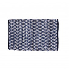 "CHINDI,  RUGS - 24X36"" - COTTON, DENIM/WHITE, DIAMOND"