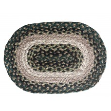 Braided Jute Oval Place Mats-Country Grn