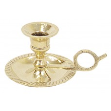 """Candle Holder, Brass W/Handle - 2"""" Mini"""