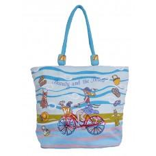 Beach Bag -Beauty & Beach - Blue
