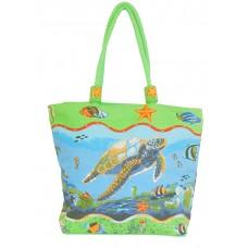Beach Bag - Turtles - Sea Blue Blue