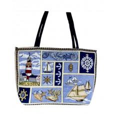 """Shopping Bag - Nautical - 13X19"""""""