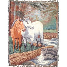 Throw - Tapestry, 2 Horses