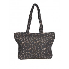 Shopping Bag Gusseted-Black Gold