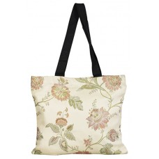 Shopping Bag, Floral, Beige