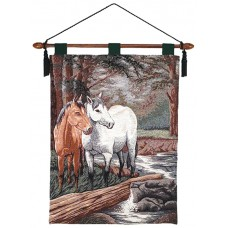 "Wall Hanging - 2 Horses, 26X36"" - With Lining"