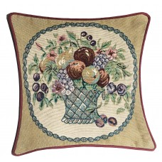 Cushion, Satin W/Fruit Design