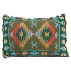 "Cushion, Aztec Dark 12""X18""  Filled"
