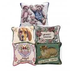 Jaquard Cushions-Assorted, 12 X 18