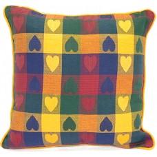 Cushion, Large Heart - Multi, Zippered