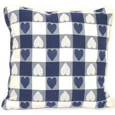 Cushion, Large Heart - Navy W/Zipper