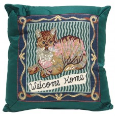 Cushion - Satin, Cat - 18X18