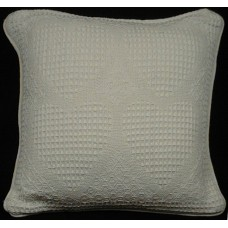 Cushion, Solid Ivory/Raised Hrt W/Zipper