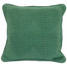 Cushion, Solid Grn/Raised Hrt W/Zipper