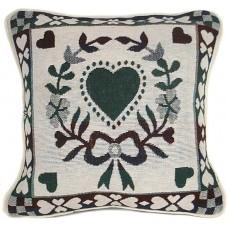 "Cushion Covers, Heart In Wreath 17""X17"""