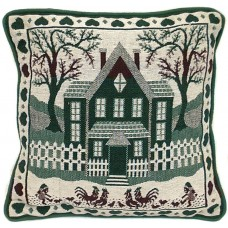 """Cushion, Home Sweet Home 17""""X17"""" Rooster"""