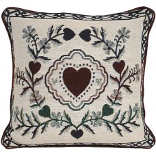 Cushion - 17X17, Heart- Floral